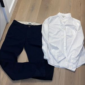 Boys Chinos And Button Down